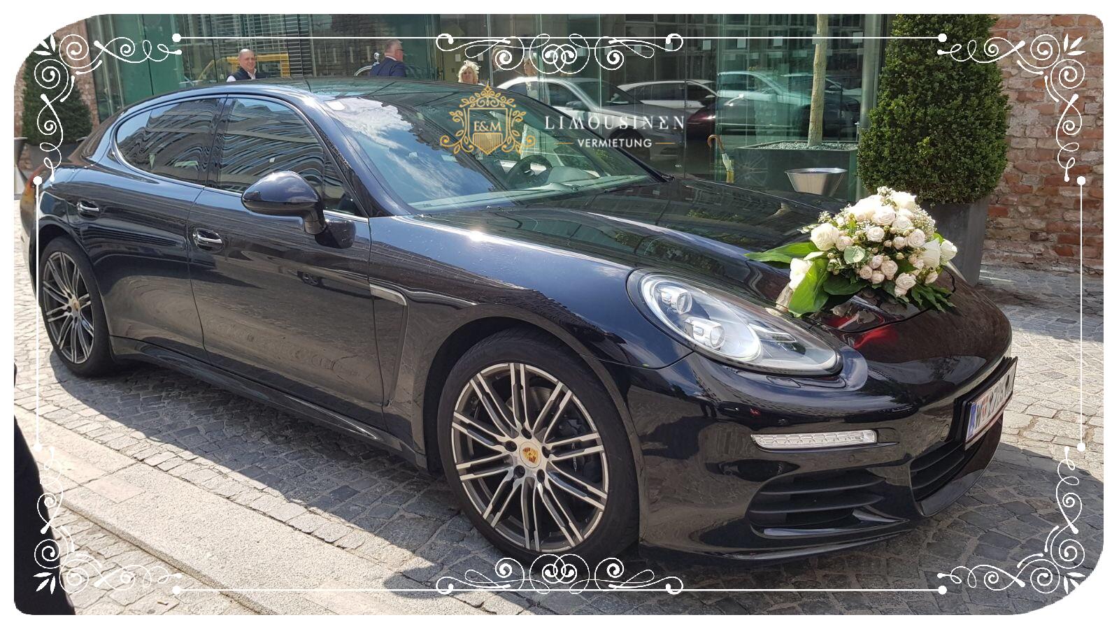 Porsche Panamera mieten zum Hochzeit Wien Niederoesterreich